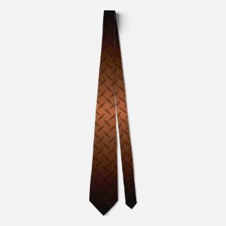 Corbata El modelo de Diamondplate con negro al cobre se