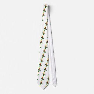 Corbata El navidad mira al trasluz y las bayas