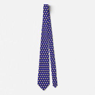 Corbata Estampado de plores azul y amarillo colorido