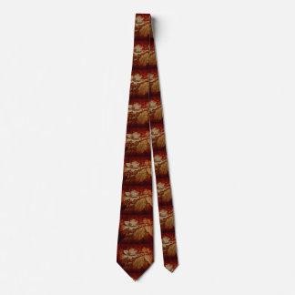 Corbata Flor y hojas del Dogwood en lazo de los colores