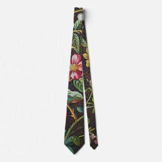 Corbata floral colorida del vintage