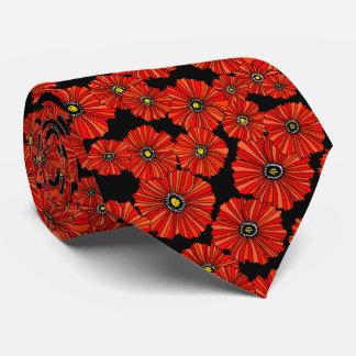 Corbata floral de la amapola roja