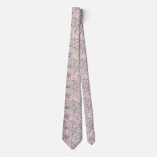 Corbata Flores color de rosa elegantes del trullo
