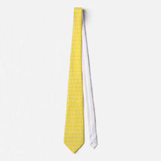 Corbata Flores en amarillo de la miel