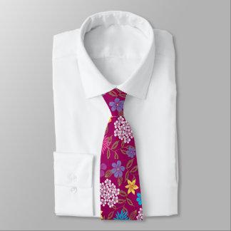 Corbata Flores salvajes de la primavera y del verano en