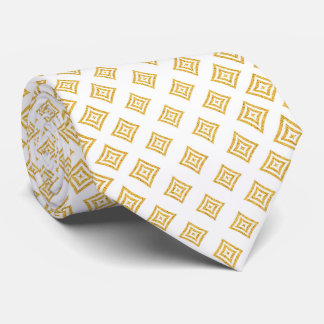 Corbata Formas geométricas del brillo del oro