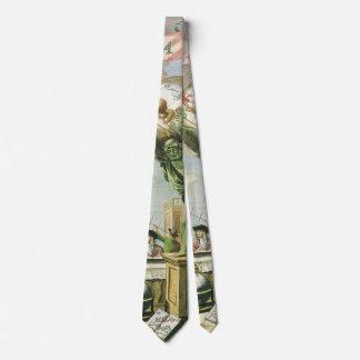 Corbata Frontispiece del atlas del vintage, globo del