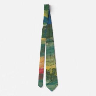 """Corbata Galería """"puente de Smeraldo de la puesta del sol """""""