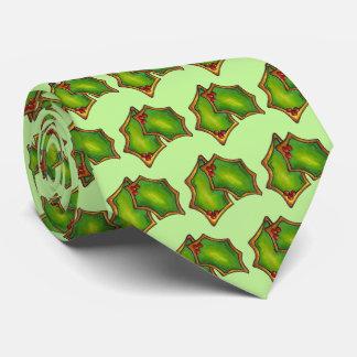 Corbata Galleta verde roja del día de fiesta de Navidad