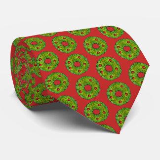 Corbata Galleta verde roja del día de fiesta del navidad