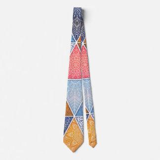 Corbata geométrica abstracta elegante del |
