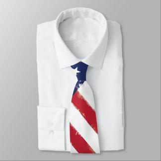 Corbata Grunge patriótico de la bandera americana viejo