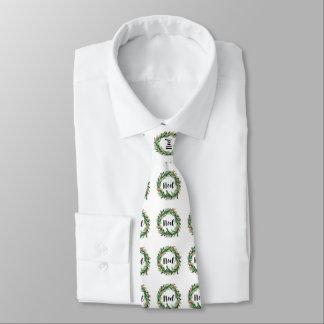 Corbata Guirnalda de la acuarela del navidad