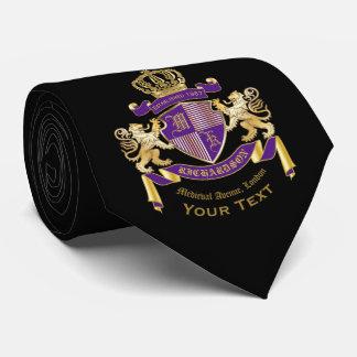 Corbata Haga su propio emblema de la corona del monograma