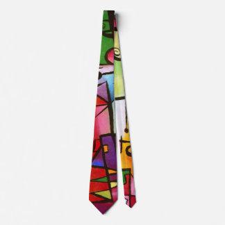 Corbata Handdrawn del extracto de moda del color