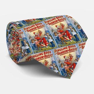 Corbata Hermanos de Ringling y Barnum y payaso del vintage