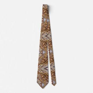 Corbata Impresión de la gota de los tonos de la tierra del
