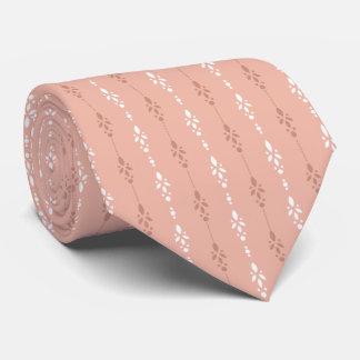 Corbata Impresión moderna suave del rosa de color salmón