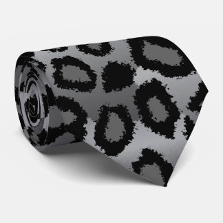 Corbata Impresión negra y gris de Jaguar