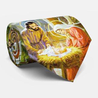 Corbata Jesús en la natividad del navidad del pesebre