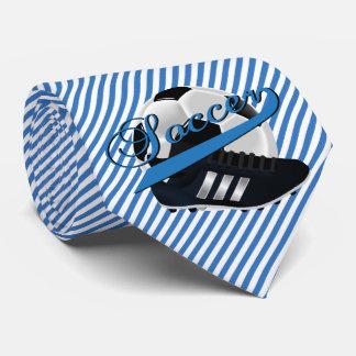 Corbata Jugador de fútbol de la raya azul