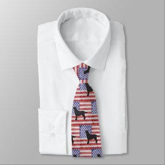 Corbata Labrador retriever patriótico el 4 de julio