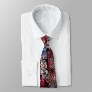 Corbata Ladrillo azul y lazo regular de los flores