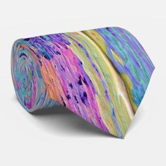 Corbata Lazo abstracto del arte del cuchillo de paleta