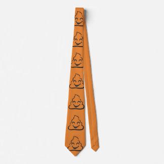 Corbata Lazo anaranjado de Emoji del impulso del vampiro