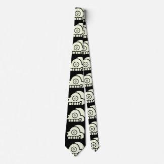 Corbata Lazo azteca del cráneo de la cabeza de muerte