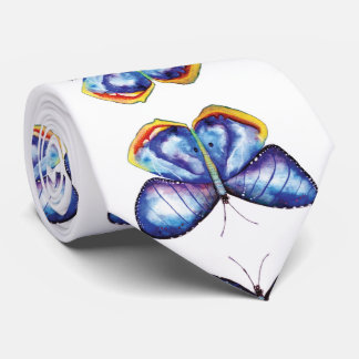 Corbata Lazo elegante de la mariposa del arte azul de la