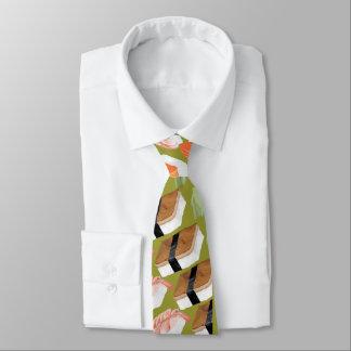 Corbata Lazo enrrollado divertido del sushi con su sushi