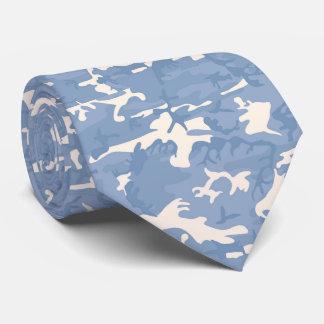Corbata Lazo modelado Camo azul y gris