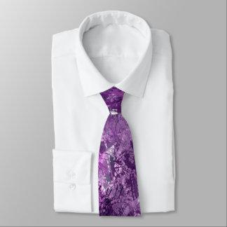 Corbata Lazo púrpura del collage del Grunge