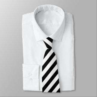 Corbata Lazo rayado blanco y negro