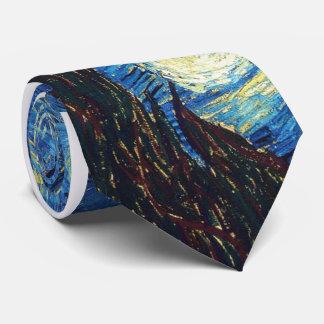Corbata Lazo Van Gogh de la noche estrellada