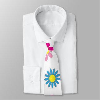 Corbata Lindo, flores de la margarita del vintage. rojo,