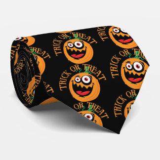 Corbata loca de la calabaza de Halloween