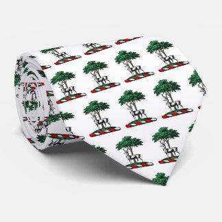 Corbata Macho de los ciervos por el emblema heráldico del