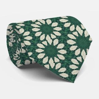 Corbata Mandala. de la hoja verde y de plata de Sacramento