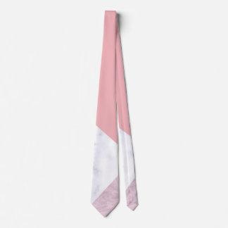 Corbata mármol blanco del rosa en colores pastel del