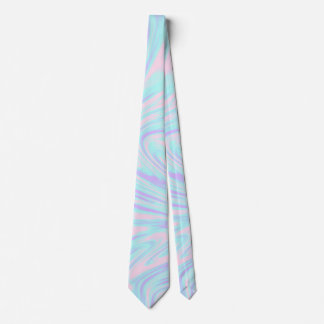 Corbata mármol blanco púrpura azul rosado colorido