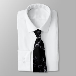 Corbata Mármol elegante style4 - blanco y negro
