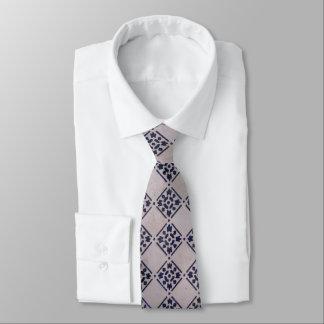 Corbata Modelo blanco azul de la impresión del arte del