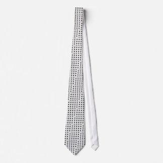 Corbata Modelo blanco y negro de la impresión de la pata