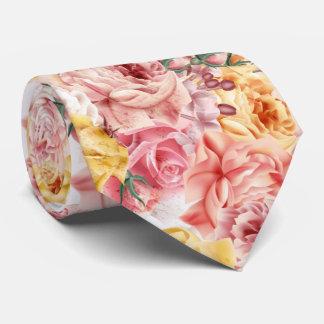 Corbata Modelo del grunge del ramo floral de la primavera