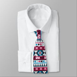 Corbata Modelo geométrico azteca étnico de moda