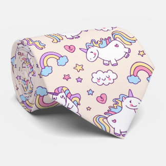 Corbata Modelo rechoncho del arco iris de los unicornios
