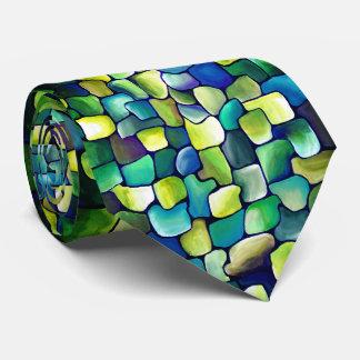 Corbata Modelo verde contemporáneo