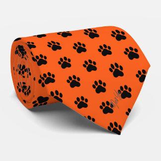 Corbata Naranja sedoso dibujado mano elegante del